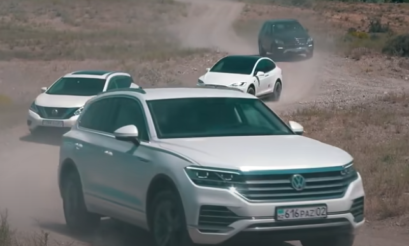 SUV Battle | Video | Tesla | Model X | Toyota | FJ Cruiser