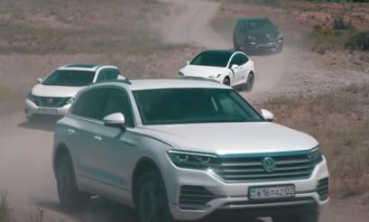 SUV Battle | Video | Tesla | Model X | Toyota | FJ Cruiser